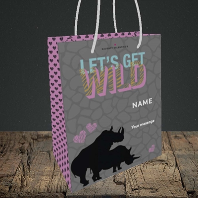 Picture of Let's Get Wild(Without Photo), Valentine's Design, Small Portrait Gift Bag