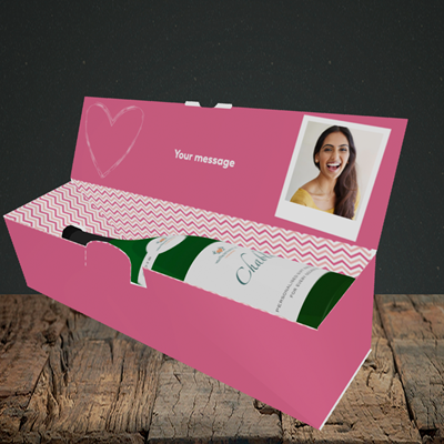 Picture of I Bloody Love You, Valentine's Design, Lay-down Bottle Box