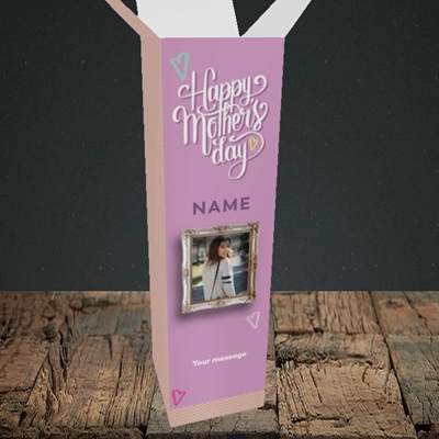 Picture of Happy Mother's Day, Mother's Day Design, Upright Bottle Box
