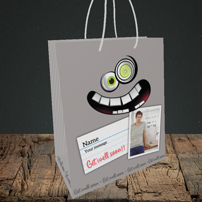 Picture of Mad, Get Well Soon Design, Small Portrait Gift Bag