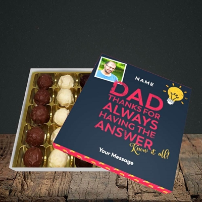 Picture of Know It All, Father's Day Design, Choc 25