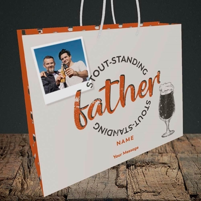 Picture of Stout-standing Father, Father's Day Design, Medium Landscape Gift Bag