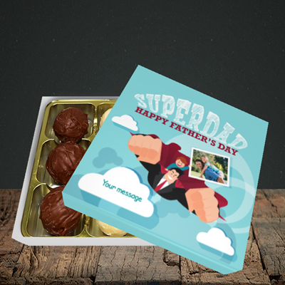Picture of Superdad, Father's Day Design, Choc 9