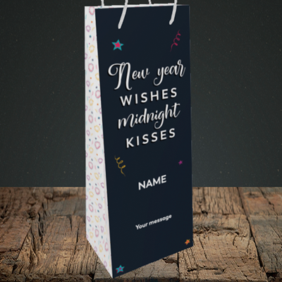 Picture of Midnight Kisses(Without Photo), New Year Design, Bottle Bag