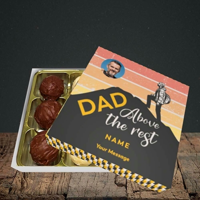 Picture of Dad Above The Rest, Father's Day Design, Choc 9