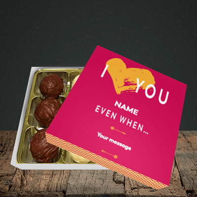 Picture of Love You Even When, (Without Photo) Valentine Design, Choc 9
