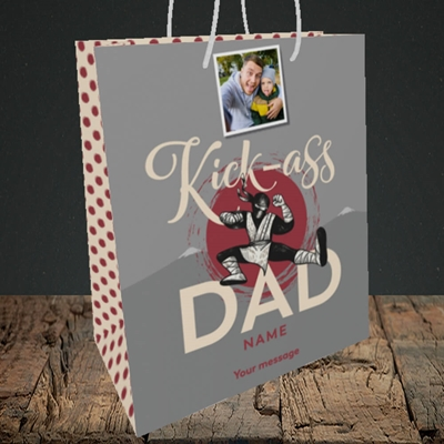 Picture of Kick-Ass Dad, Father's Day Design, Medium Portrait Gift Bag
