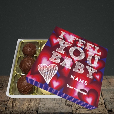 Picture of I Feel You Baby(Without Photo), Valentine's Design, Choc 9
