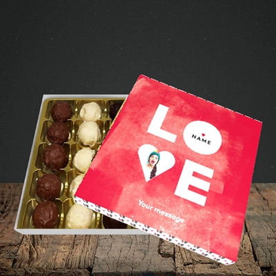 Picture of Love Type (stacked), Valentine Design, Choc 25
