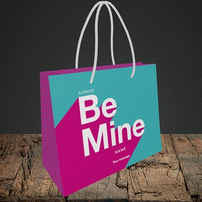 Picture of Always be Mine (type) (Without Photo), Valentine's Design, Small Landscape Gift Bag