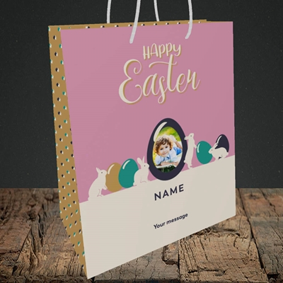Picture of Four Bunnies, Easter Design, Medium Portrait Gift Bag
