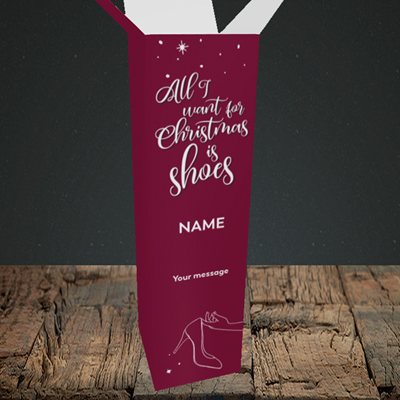 Picture of Christmas Shoes(Without Photo), Christmas Design, Upright Bottle Box