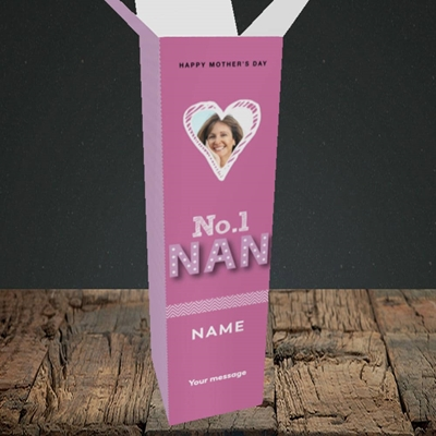 Picture of No. 1 Nan, Mother's Day Design, Upright Bottle Box