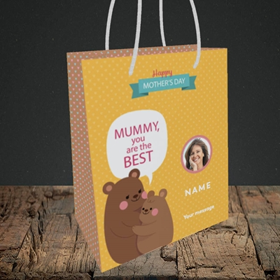 Picture of Mummy You Are The Best Bear, Mother's Day Design, Small Portrait Gift Bag