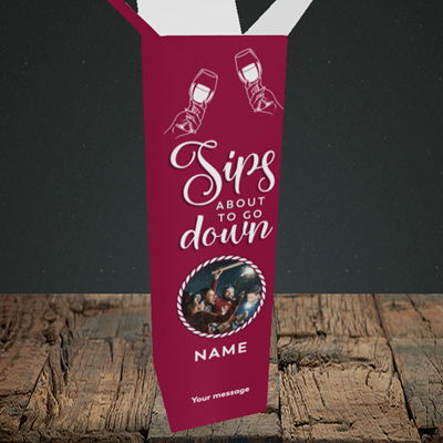 Picture of About To Go Down, New Year Box Design, Upright Bottle Box