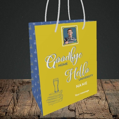 Picture of Hello University, Leaving Design, Small Portrait Gift Bag