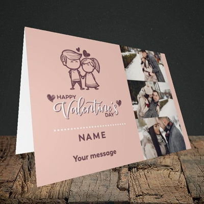 Picture of Holding Hands, Valentine's Design, Landscape Greetings Card