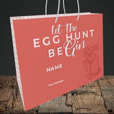 Picture of Egg Hunt BeGin(Without Photo), Easter Design, Medium Landscape Gift Bag