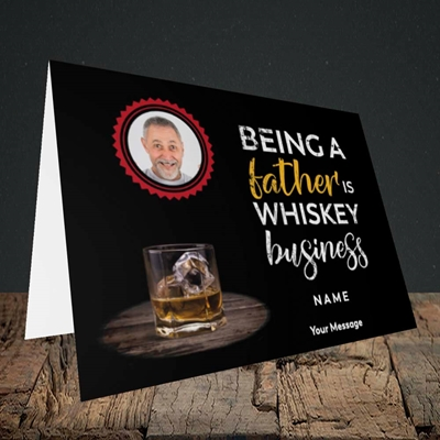 Picture of Whiskey Business, Father's Day Design, Landscape Greetings Card