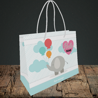 Picture of Elephant, New Baby Design, Small Landscape Gift Bag