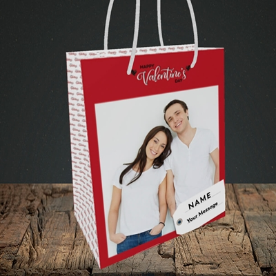 Picture of 1.A Valentine's Large Photo, Valentine's Design, Small Portrait Gift Bag
