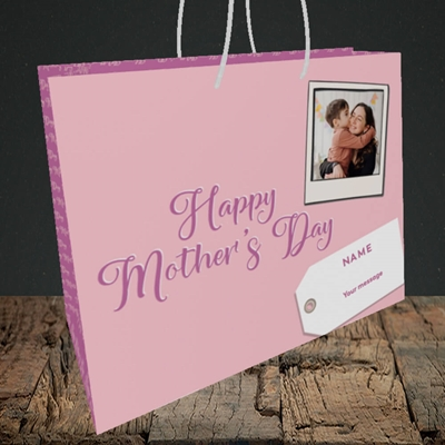 Picture of 2. Polaroid, Mother's Day Design, Medium Landscape Gift Bag