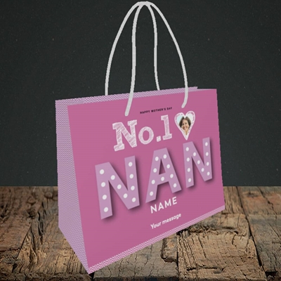 Picture of No. 1 Nan, Mother's Day Design, Small Landscape Gift Bag