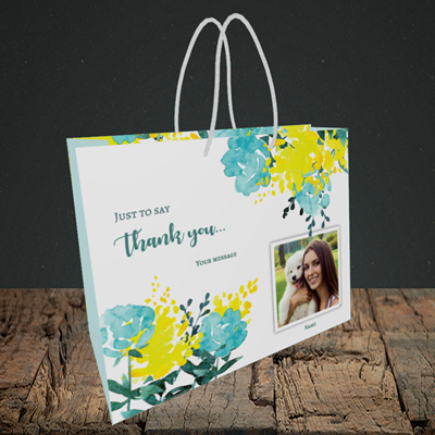 Picture of Watercolour, Thank You Design, Small Landscape Gift Bag
