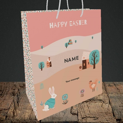 Picture of Easter Farm(Without Photo), Easter Design, Medium Portrait Gift Bag