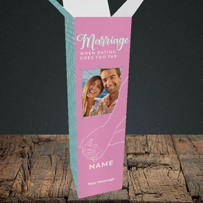 Picture of Dating Goes Too Far, Wedding Design, Upright Bottle Box