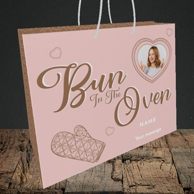 Picture of Bun In The Oven, Pregnancy Design, Medium Landscape Gift Bag