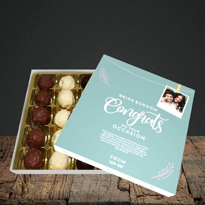 Picture of Peg & Polaroid Teal B&G, Wedding Design, Choc 25