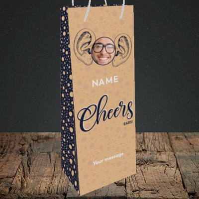 Picture of Cheers Ears, Thank You Design, Bottle Bag