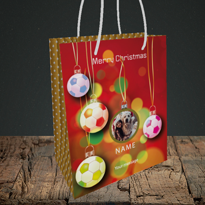 Picture of Christmas Baubles, Christmas Design, Small Portrait Gift Bag