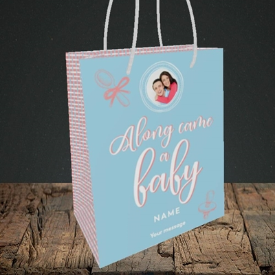 Picture of Along Came A Boy, New Baby Design, Small portrait Gift Bag