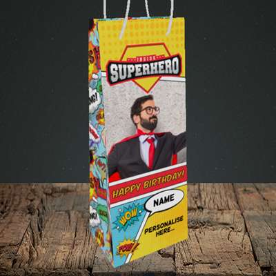 Picture of Comic, Birthday Design, Bottle Bag