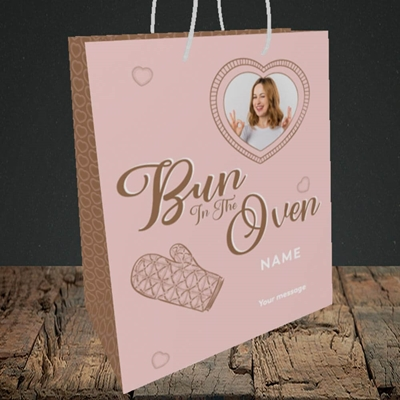 Picture of Bun In The Oven, Pregnancy Design, Medium Portrait Gift Bag