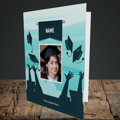 Picture of Hats, Graduation Design, Portrait Greetings Card