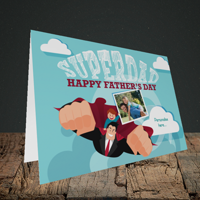 Picture of Superdad, Father's Day Design, Landscape Greetings Card