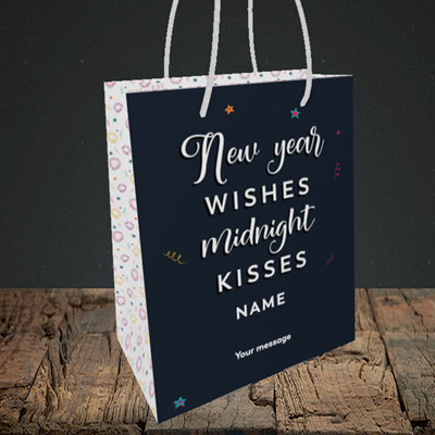 Picture of Midnight Kisses(Without Photo), New Year Design, Small Portrait Gift Bag
