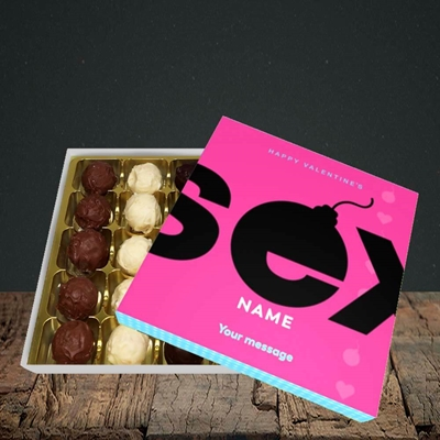 Picture of Sex Bomb - Pink(Without Photo), Valentine Design, Choc 25