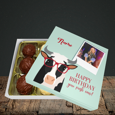 Picture of Cow, Birthday Design, Choc 9