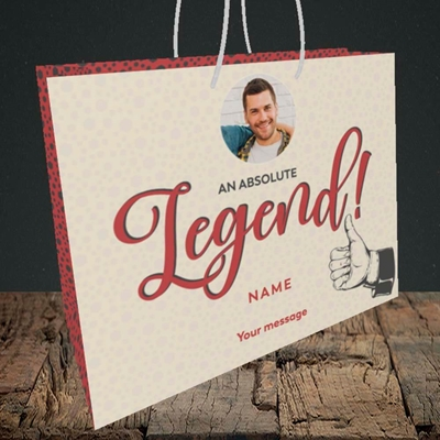 Picture of Absolute Legend, Thank You Design, Medium Landscape Gift Bag