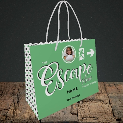 Picture of Escape Plan, Leaving Design, Small Landscape Gift Bag