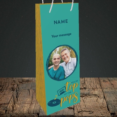 Picture of Top Of The Pops, Father's Day Design, Bottle Bag