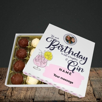 Picture of Birthday Full Of Gin, Birthday Design, Choc 16