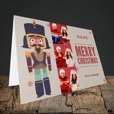 Picture of Merry Nutcracker, Christmas Design, Landscape Greetings Card