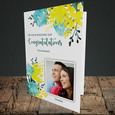 Picture of Watercolour, Wedding Design, Portrait Greetings Card