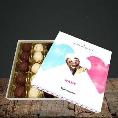 Picture of Joined Hearts (textured), Valentine Design, Choc 25