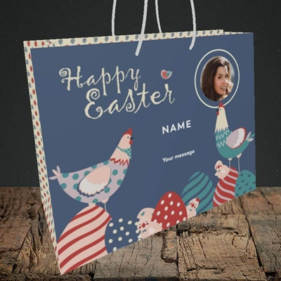 Picture of Hen & Chick Egg Hunt, Easter Design, Medium Landscape Gift Bag